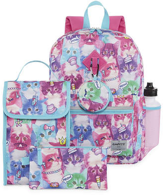 Confetti Photoreal Cat 6pc Backpack Set