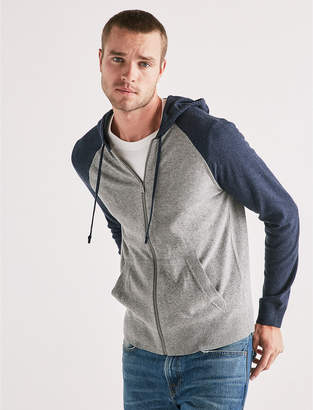Lucky Brand COLOR BLOCK FULL ZIP HOODIE