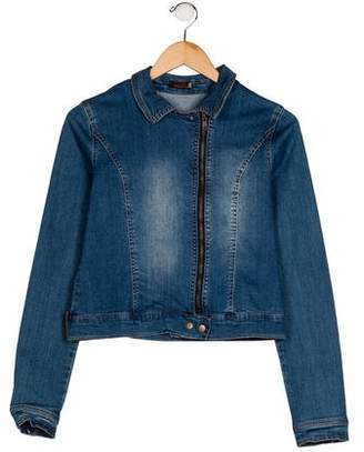 Catimini Girls' Denim Zip-Up Jacket