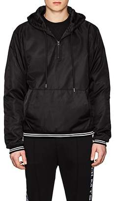 "Stampd MEN'S WESLEY ""NINETY THREE"" TECH-CANVAS ANORAK - BLACK SIZE XL"