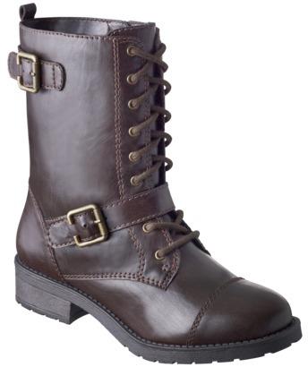 Keilani Women's Mossimo Lace-Up Combat Boot - Bark