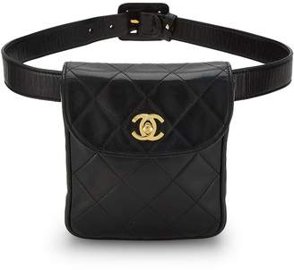 1c9bc2ffb939 ... What Goes Around Comes Around · Chanel Black Quilted Lambskin Belt Bag  30