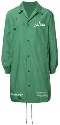 Undercover graphic rain coat