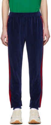 Gucci Blue Velour Jogging Lounge Pants