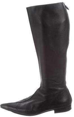 Walter Steiger Leather Pointed-Toe Boots