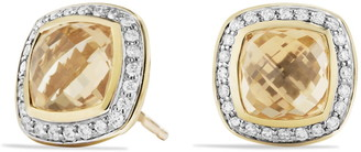 David Yurman 'Albion' Earrings with Semiprecious Stone and Diamonds in Gold