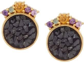 Ophelia Shana Gulati Diamond Slice & Gemstone Earrings