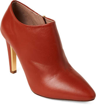 Chloé Rust Leather Ankle Booties