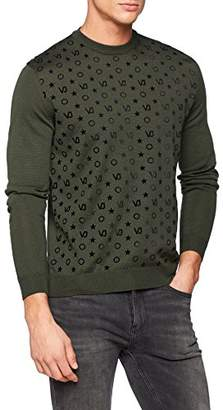 Versace Men's Man Knitted Sweater Jumper,X-Large