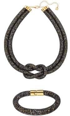 Swarovski Black Stardust Necklace and Bracelet Set