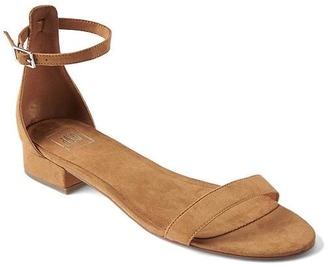 Ankle-strap suede sandal $44.95 thestylecure.com