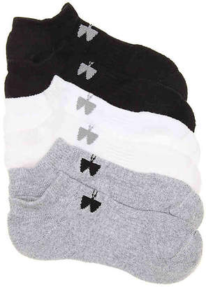 Under Armour Charged Cotton 2 Youth No Show Socks - 6 Pack - Boy's