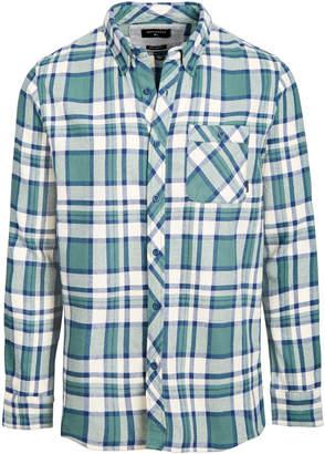 Quiksilver Men Burnsfield Plaid Flannel Shirt