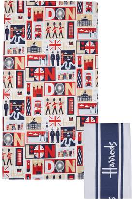 Harrods Iconic London Tea Towels (Set of 2)