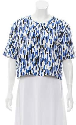 Piamita Abstract Print Short Sleeve Blouse