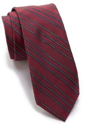 Calvin Klein Micro Triple Stripe Silk Tie