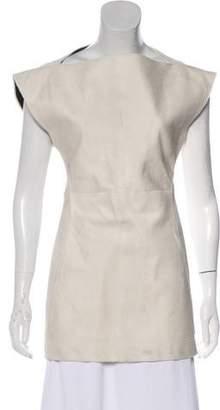 Rick Owens Structured Sleeveless Fur Top