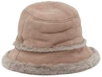 UGG Genuine Sheepskin & Suede Bucket Hat