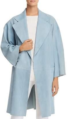 Theory Suede Kimono Coat