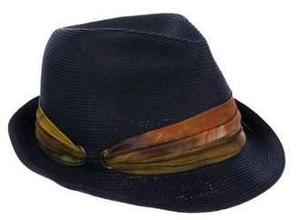 Eugenia Kim Silk-Trimmed Fedora Hat