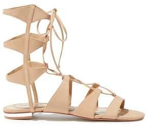 Schutz Erlina Lace-up Nubuck Sandals