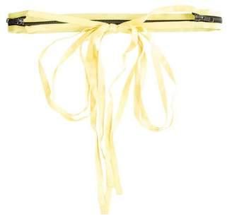 Ann Demeulemeester Satin Zip-Accented Belt