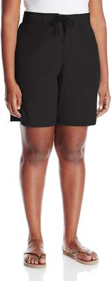 Kanu Surf Women's Plus-Size Marina Solid Stretch Boardshort