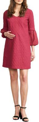 Maternal America Bubble Sleeve Maternity Shift Dress