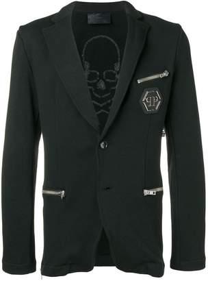 Philipp Plein zip pocket blazer
