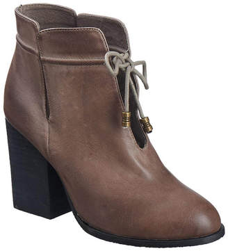 Antelope 893 Leather Groove & Tie Bootie