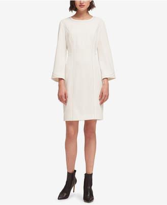 DKNY Bell-Sleeve Shift Dress