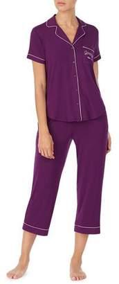 Kate Spade Get Comfortable Short-Sleeve Crop Pajama Set