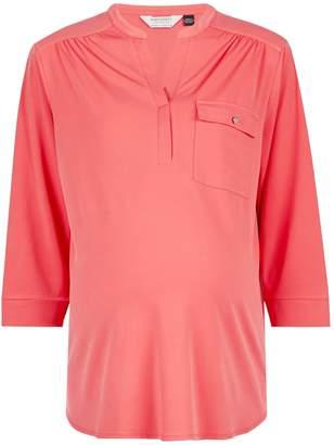 Dorothy Perkins Womens **Maternity Coral Formal Jersey Shirt