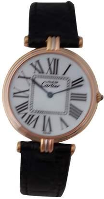 Cartier Must Vendôme pink gold watch