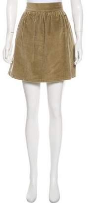 Steven Alan Corduroy Textured Mini Skirt