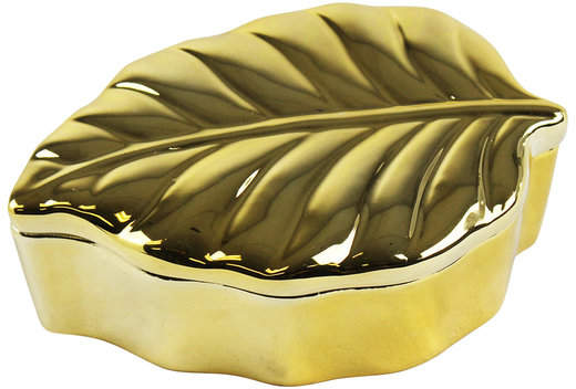 sagebrook home Decorative Leaf-Shaped Covered Box