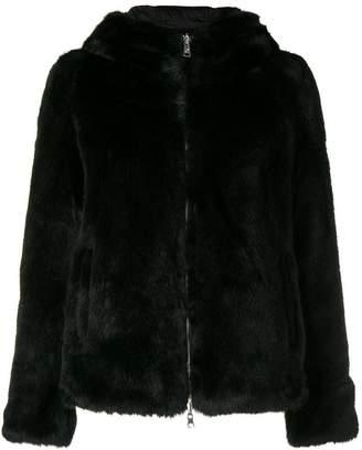 Colmar hooded fur coat
