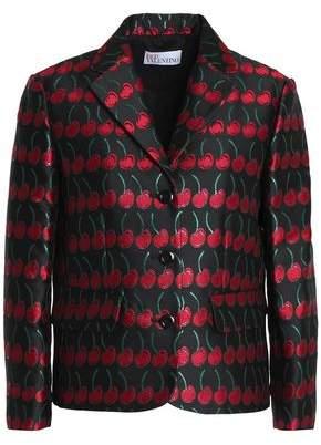 RED Valentino Metallic Jacquard Blazer