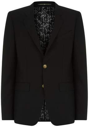 Givenchy Embossed Button Blazer
