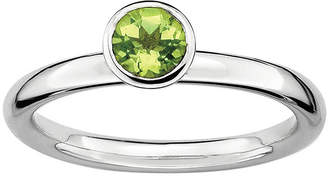 JCPenney FINE JEWELRY Personally Stackable Genuine Peridot Sterling Silver Stackable Ring