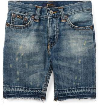 Ralph Lauren Distressed Cotton Denim Short