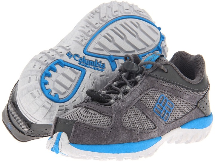 Columbia Kids - Yama (Toddler/Little Kid/Big Kid) (Light Grey/Compass Blue) - Footwear