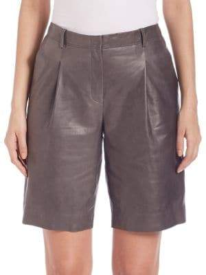 Lafayette 148 New York Rivington Leather Shorts