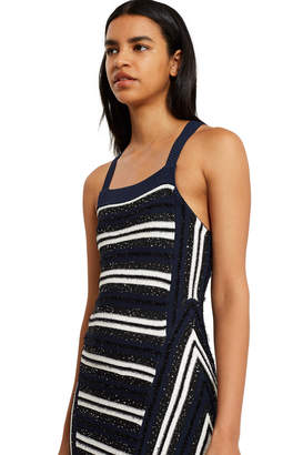 Opening Ceremony Striped Sequin Delta Dress