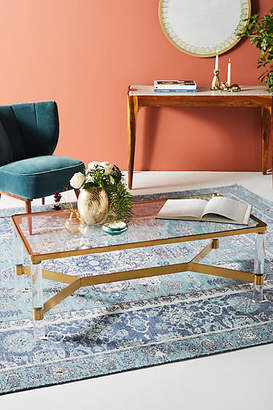 Anthropologie Oscarine Lucite Coffee Table, Rectangle