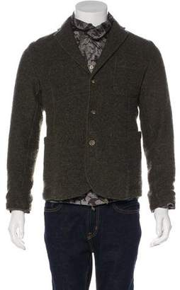 Bark Wool Button-Up Jacket