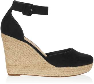 36c61db3e72c Next Lipsy Closed Ankle Strap Espadrille Wedges - 42 (UK 8)
