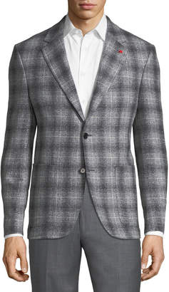 Tailorbyrd Plaid Sport Coat Sport Coat, Gray