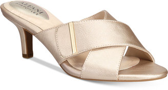 Alfani Women's Step 'N Flex Larrk Kitten-Heel Slip-On Sandals, Only at Macy's $69.50 thestylecure.com