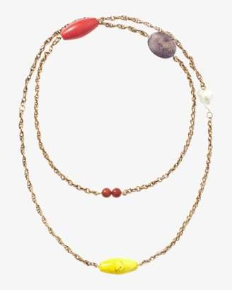 Carolina Herrera Bead and Chain Wrap Necklace